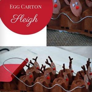 Reindeer and Sleigh Egg Carton Craft