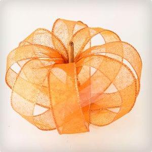 Ribbon Pumpkin Craft