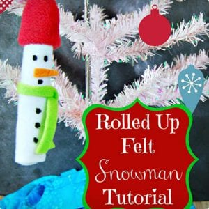 Rolled Felt Snowman Ornament Tutorial