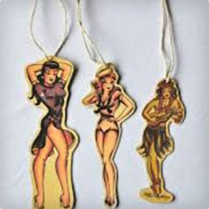 Sailor Jerry Pin-Up Ornaments/Gift Tags