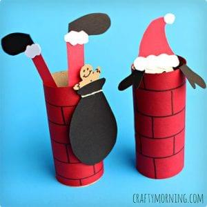 Santa Down The Chimney Craft