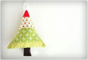 Scrap Christmas Tree Ornaments