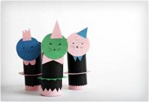 Seal Dolls Craft Using Toilet Paper Rolls