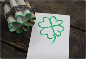Shamrock Stamp Made From Toilet Paper Rolls