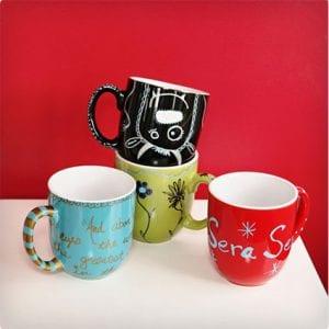 Sharpie Paint Mugs