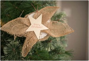 Simple Burlap and Star Ornament
