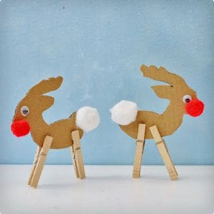 Simple Cardboard Rudolph Craft