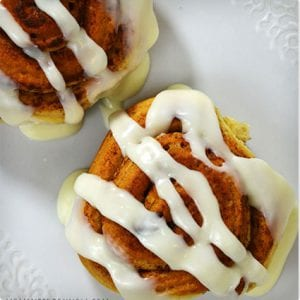 Simple Cinnamon Rolls With Vanilla Frosting