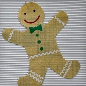 Simple Gingerbread Men Ornaments