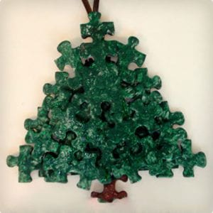 Simple Puzzle Piece Ornaments