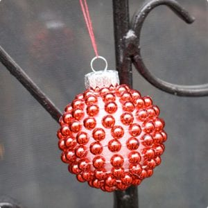 Simple Red Bead Ornament