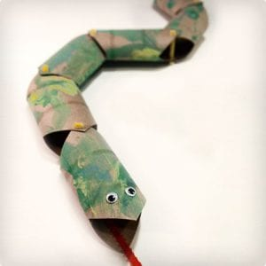 Snake Made From Toilet Paper Rolls