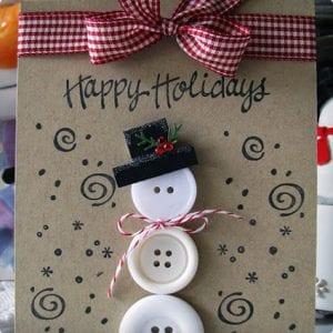 Snowman Button Card Craft