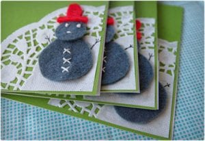 Snowman Card Decoration