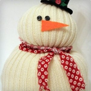 Snowman Made From Old Sweater