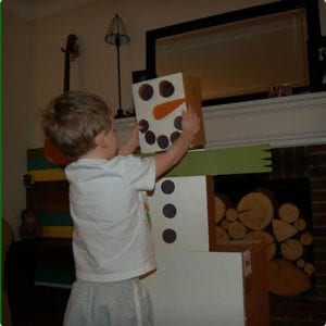 Snowman Topple Game For Kids
