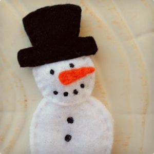 Snowman and Friends Finger Puppets
