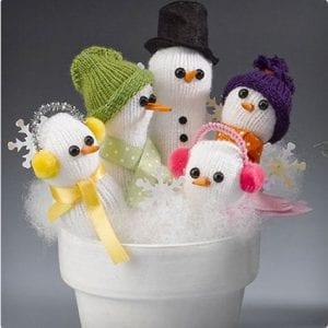 Snowmen Family in a Pot Craft