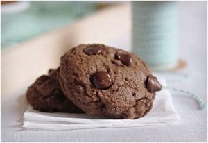 Soft Baked Mint Chocolate Chip Cookies