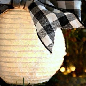 Sparkling Paper Lantern Ornament Tutorial