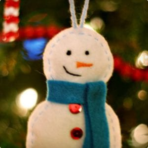 Stitched and Stuffed Snowman