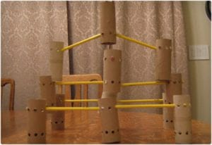 Tinker Style Toys Using Toilet Paper Rolls