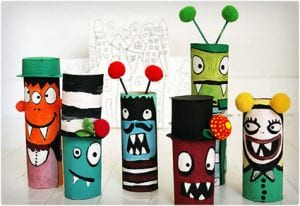Toilet Paper Monster Crafts