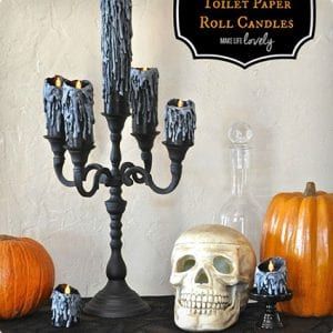 Toilet Paper Roll Candle Decorations