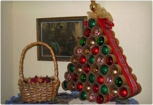 Toilet Paper Roll Christmas Tree Home Decoration