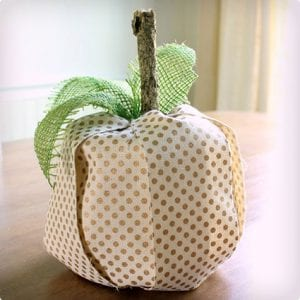 Toilet Paper Roll Cover Up Pumpkin Craft