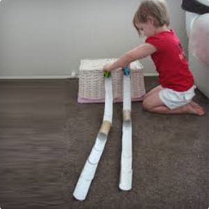 Toilet Paper Roll Race Track