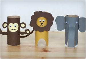 Toilet Paper Roll Safari Animal Project