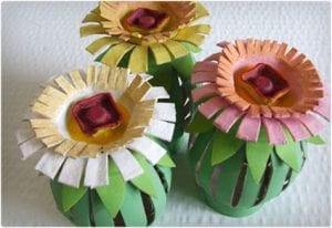 Toilet Paper and Egg Crate Flowers