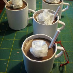 Totally Adorable Upcycled Hot Chocolate Ornaments