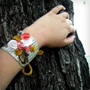 Trendy Cuff Bracelet Made Using Toilet Paper Roll