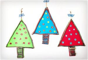 Twig and Felt Christmas Trees