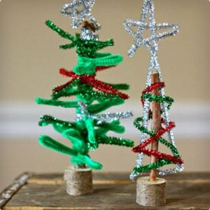 Twig and Pipe Cleaner Christmas Tree Craft