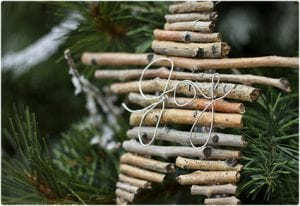 Twig and Wire Word Ornament Tutorial