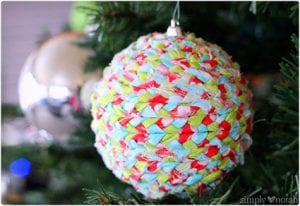 Upcycled Fabric Ornament Makeover Tutorial