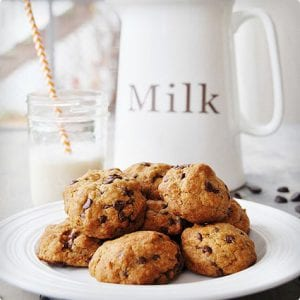 Vegan Dark Chocolate Chip Cookies