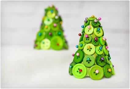 Versatile Button Christmas Tree Ornament