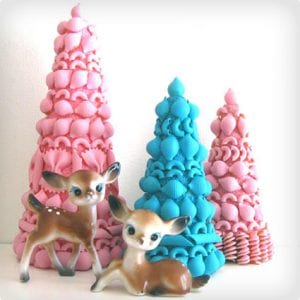 Vintage Style Christmas Tree Crafts