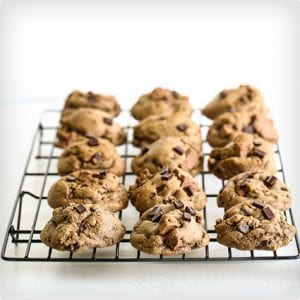 Whole Wheat Chocolate Chip and Mint Cookies