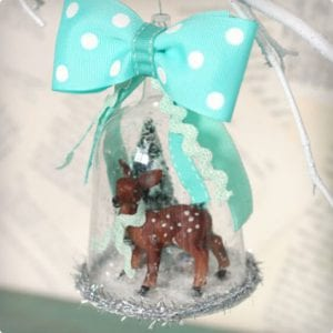 Woodland Winter Scene Ornament Tutorial