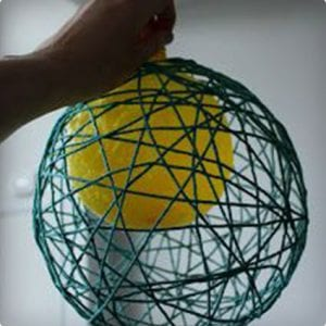 Yarn Ball Ornament Tutorial