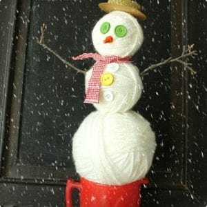 Yarn Ball Snowmen