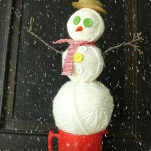 Yarn Ball Snowmen