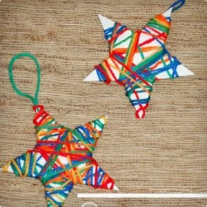 Yarn Wrapped Stars For Kids