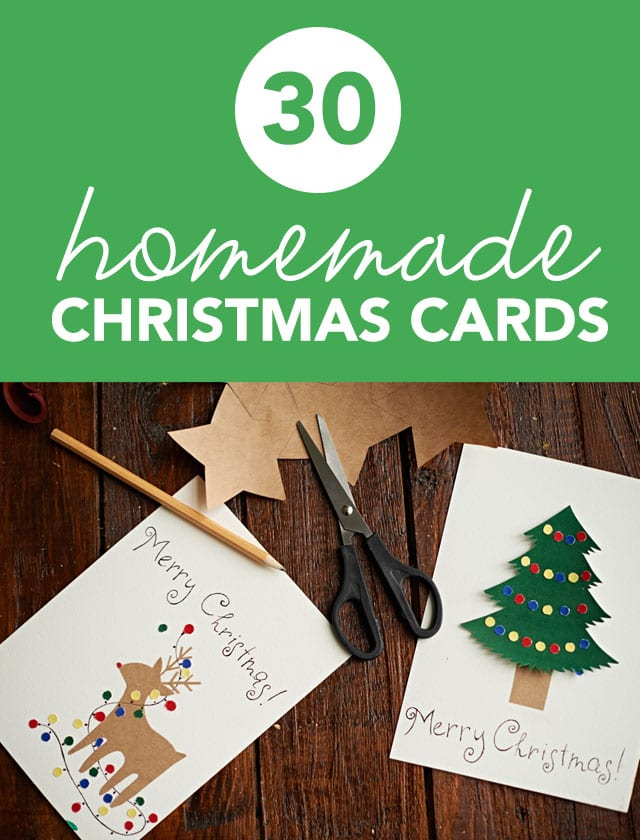30 Beautiful Homemade Christmas Cards | Miss Wish