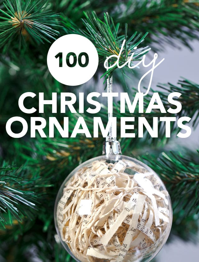 This is the holy grail for unique homemade Christmas ornament ideas! Love this.